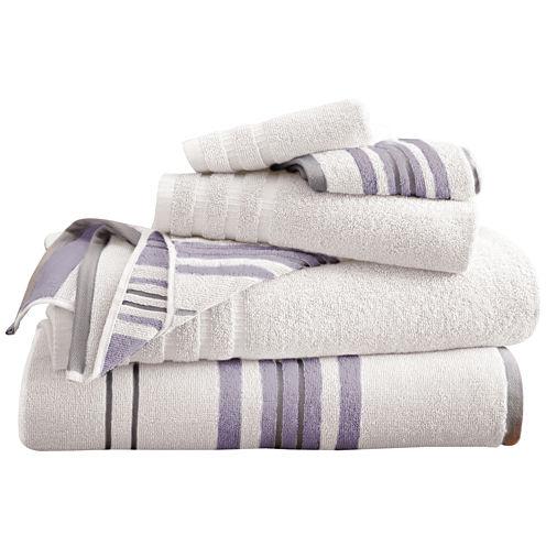 Pacific Coast Textiles Racer Stripe Yarn Dyed 6-pc. Bath Towel Set