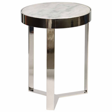 jcpenney.com | Knox And Harrison Contemporary Metal And Stone Chairside Table