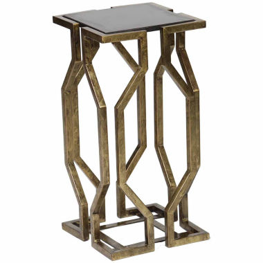 jcpenney.com | Knox And Harrison Geometric Pattern With Granite Top Chairside Table