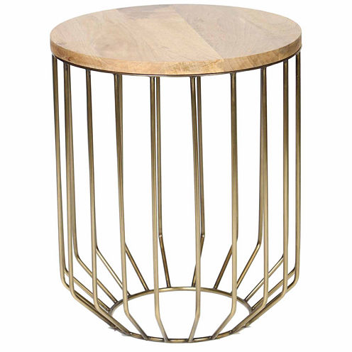 Knox And Harrison Wire Frame Chairside Table