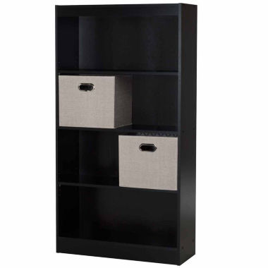 jcpenney.com | Axess 4-Shelf Bookcase with 2 Fabric Storage Baskets