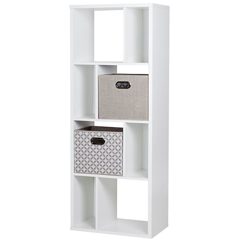 Reveal 8-Cube Shelving Unit with 2 Fabric StorageBaskets
