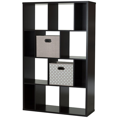 Reveal 12-Cube Shelving Unit with 2 Fabric StorageBaskets
