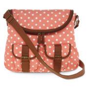 Olsenboye® Polka Dot Fold-Over Messenger Bag