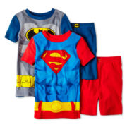 Batman & Superman 4-pc. Cotton Sleepwear Set - Boys 4-10