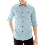 Chalc® Long-Sleeve Chambray Woven Shirt