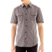 Chalc® Short-Sleeve Chambray Woven Shirt