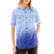 Chalc® Short-Sleeve Ombré Woven Shirt