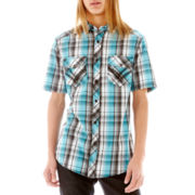 Chalc® Short-Sleeve Plaid Woven Shirt