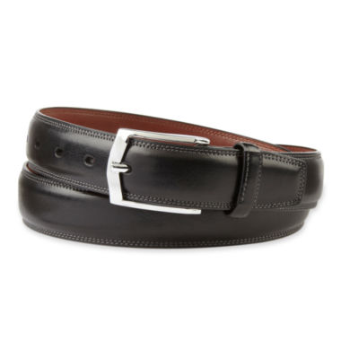 jcpenney.com | Stafford® Black Leather Belt–Big & Tall