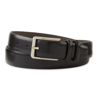 jcpenney.com | Claiborne® Black Leather Belt w/Double Keep