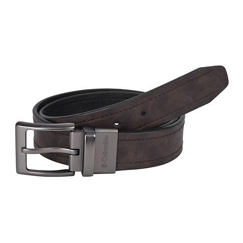 Columbia® Brown Reversible Belt w/ Logo Buckle