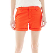 Joe Fresh™ Flat-Front Twill Shorts
