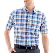 Dockers® Short-Sleeve Madras Plaid Shirt