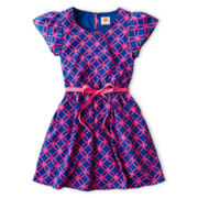 Total Girl® Print Short-Sleeve Dress - Girls 6-16 and Plus