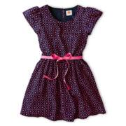 Total Girl® Print Short-Sleeve Dress - Girls 6-16 and Plus