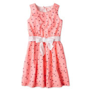 Arizona Heart Print Voile Woven Dress - Girls 6-16 and Plus