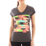 Xersion™ Short-Sleeve V-Neck Graphic Tee