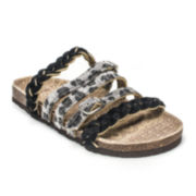 MUK LUKS® Mary Suede Leather Strappy Sandals