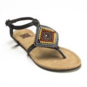 MUK LUKS® Aria Beaded Slingback Thong Sandals