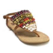 MUK LUKS® Harlow Beaded Thong Sandals