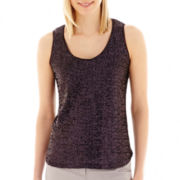 Liz Claiborne® Sequin Tank Top - Tall