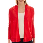 Worthington® 3/4-Sleeve Flyaway Cardigan Sweater - Tall