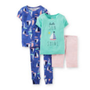 Carter's® 4-pc. Sailboat Pajama Set – Toddler Girls 2t-5t