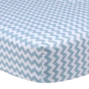 jcpenney.com | Trend Lab® Sky Blue Chevron Fitted Crib Sheet