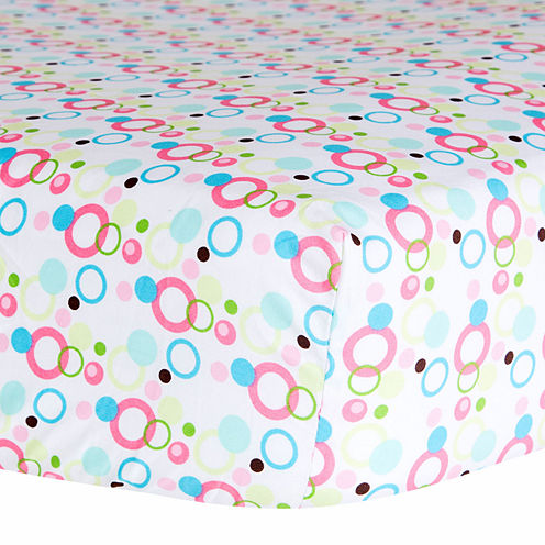 Trend Lab® Cupcake Dot Fitted Crib Sheet