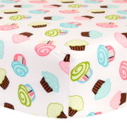 Trend Lab® Cupcake Scatter Fitted Crib Sheet