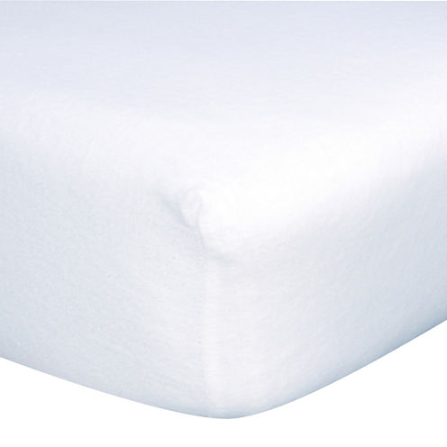 Trend Lab® White Fitted Crib Sheet