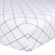 Trend Lab® Versailles Black & White Fitted Crib Sheet