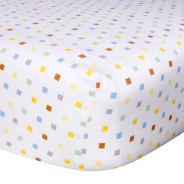 jcpenney.com | Trend Lab® Mini Squares Fitted Crib Sheet