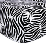 Trend Lab® Zebra Stripe Fitted Crib Sheet