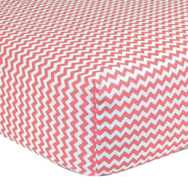 jcpenney.com | Trend Lab® Pink & White Chevron Fitted Crib Sheet