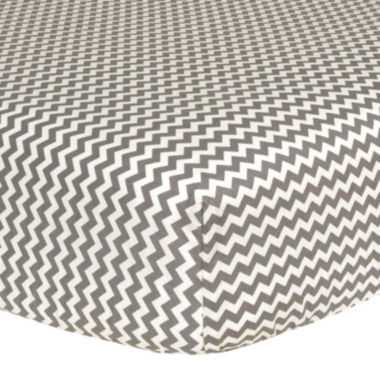 jcpenney.com | Trend Lab® Gray & White Chevron Fitted Crib Sheet