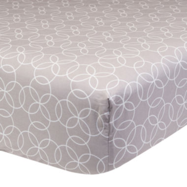 jcpenney.com | Trend Lab® Gray Circles Fitted Crib Sheet