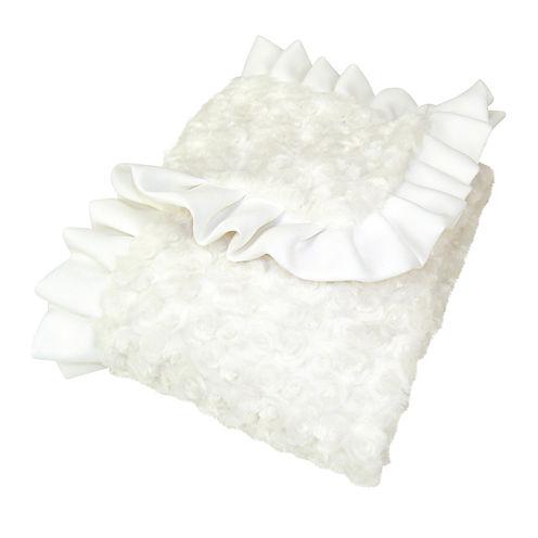 Trend Lab® White Rosette Blanket