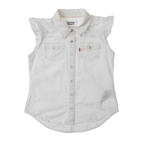 Levi's® White Flutter-Sleeve Top - Girls 7-16
