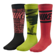 Nike® 3-pk. Graphic Crew Socks – Boys