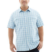 Van Heusen® Short-Sleeve Traveler Woven Shirt–Big & Tall