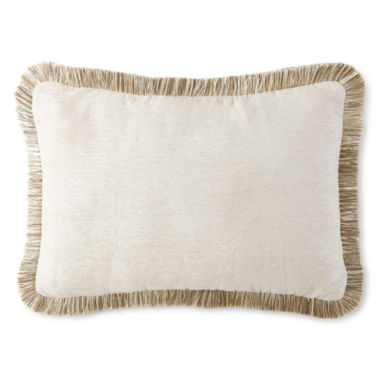 jcpenney.com | JCPenney Home™ Chenille Fringe Oblong Decorative Pillow