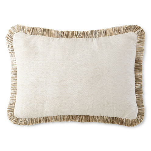 JCPenney Home™ Chenille Fringe Oblong Decorative Pillow