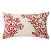 JCPenney Home™ Coral Beaded Oblong Decorative Pillow