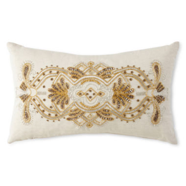 jcpenney.com | JCPenney Home™ Sofia Beaded Scroll Oblong Decorative Pillow