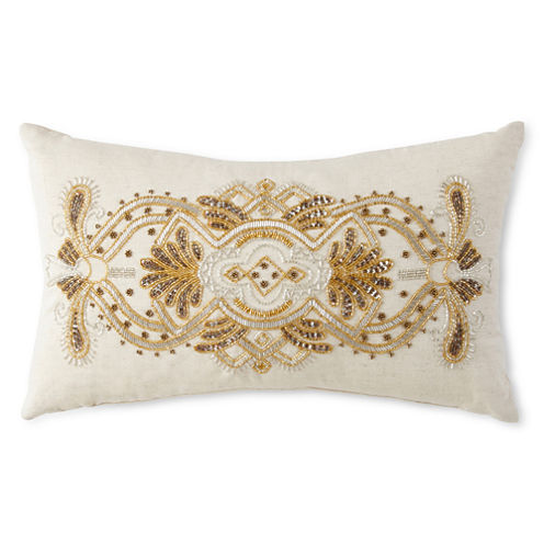 JCPenney Home™ Sofia Beaded Scroll Oblong Decorative Pillow
