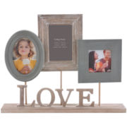Burnes of Boston® Heartfelt Love 3-Opening Pedestal Photo Frame