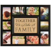 Burnes of Boston® Burlap Family Collage 10-Opening Photo Frame