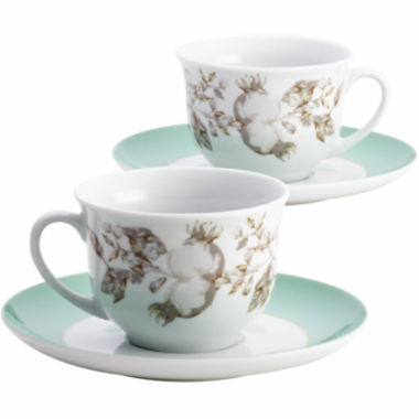jcpenney.com | BonJour® Fruitful Nectar 4-pc. Porcelain Teacup and Saucer Set